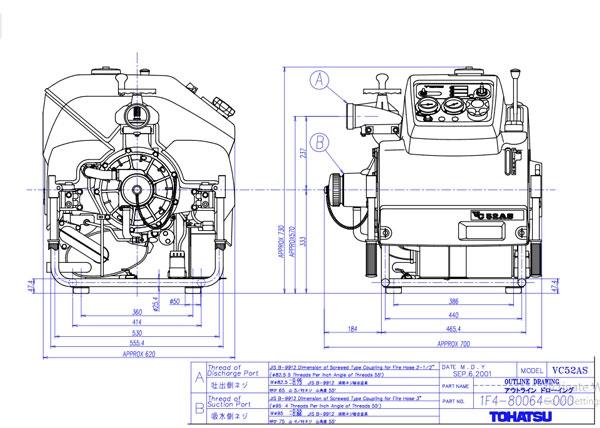 Cấu tạo và cách sử dụng máy bơm chữa cháy tohatsu vc52as