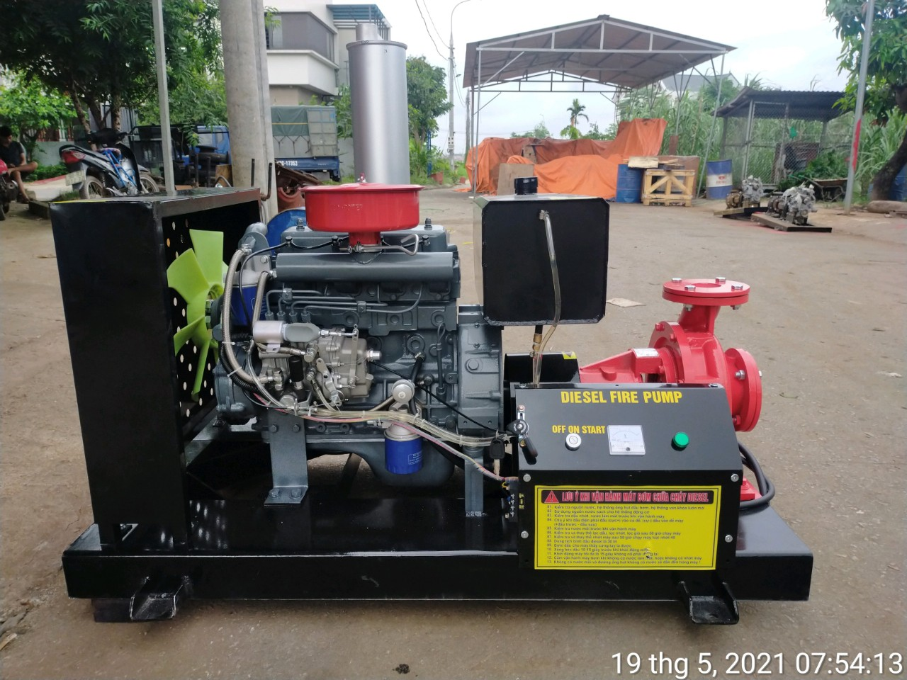 Bơm Diesel Himawari 15kw